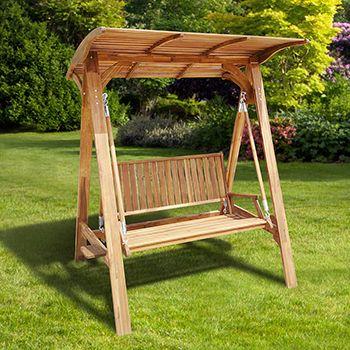 Omt columpio de madera con techo no de item 853381 for Columpios de madera para jardin
