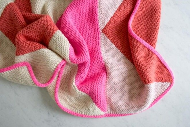 Flying Geese Knit Baby Blanket The Purl Bee Free Pattern Free