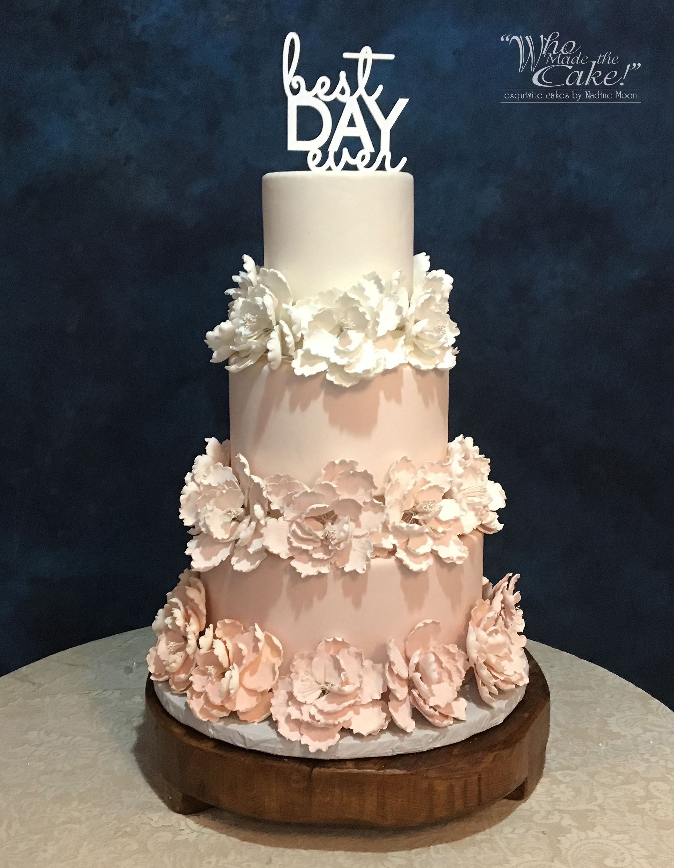 This ombre blush wedding cakeus elegant simplicity makes it