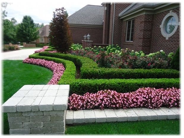 Curbing for yards front yard landscape design ideas for Front lawn design