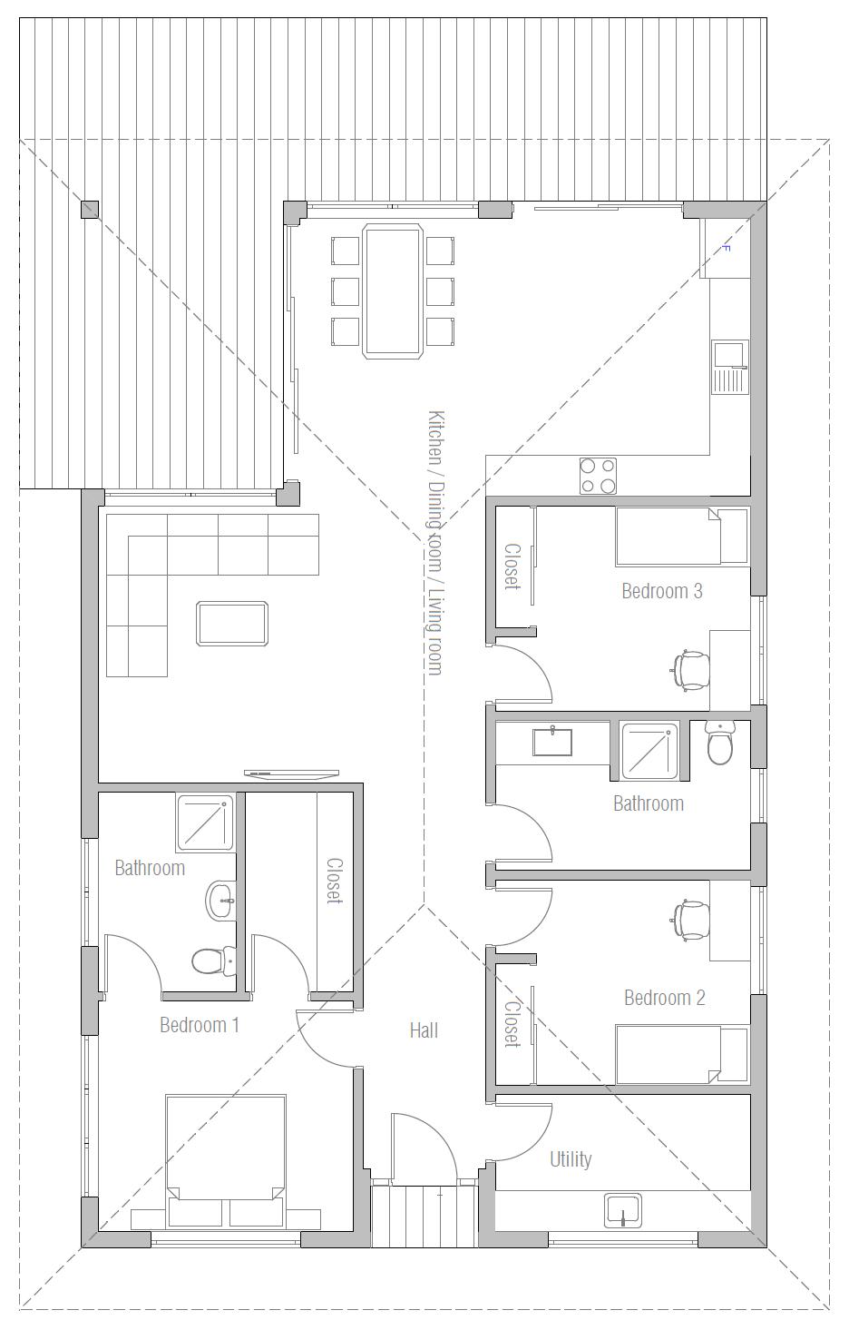 House Design House Plan Ch385 10 Floor Plans House Floor Plans Craftsman Floor Plans