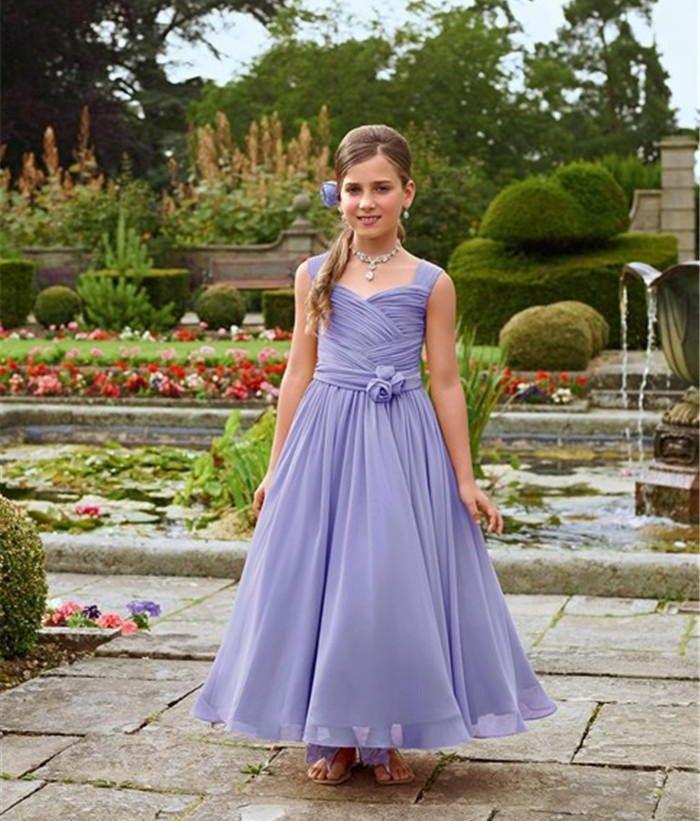 2016 Hot Sale Lavender Grape Coral Ruched Handmade | flower girl ...