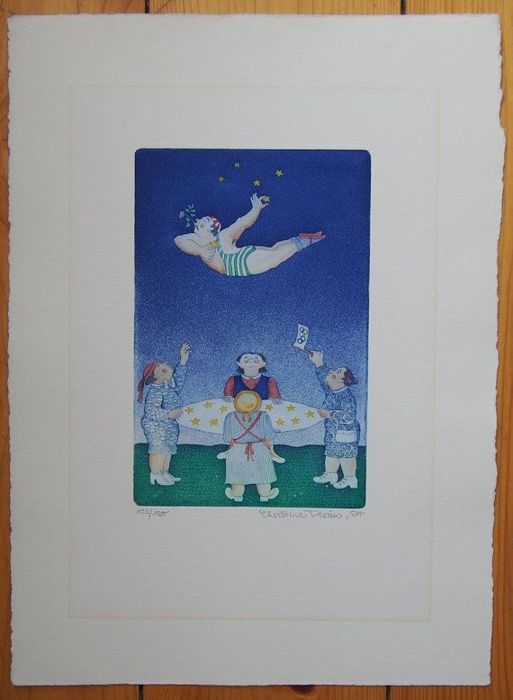 Original Limited Edition Etching 1983 Heinz-Ludwig Beckers