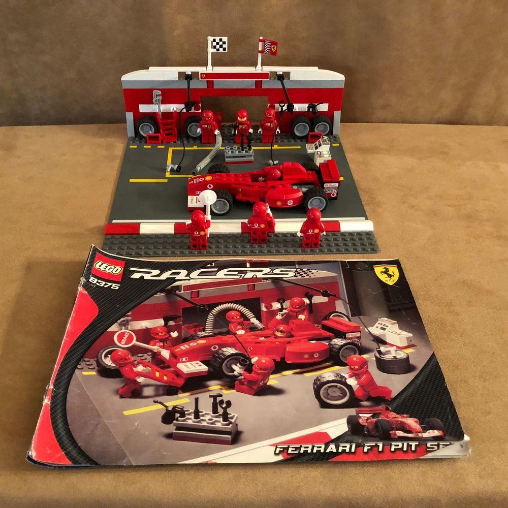 8375 Lego Complete Ferrari f1 pit crew set racing car