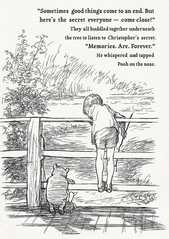 Pooh Quotes Memories Are Forever Vintage By Childrensclassic