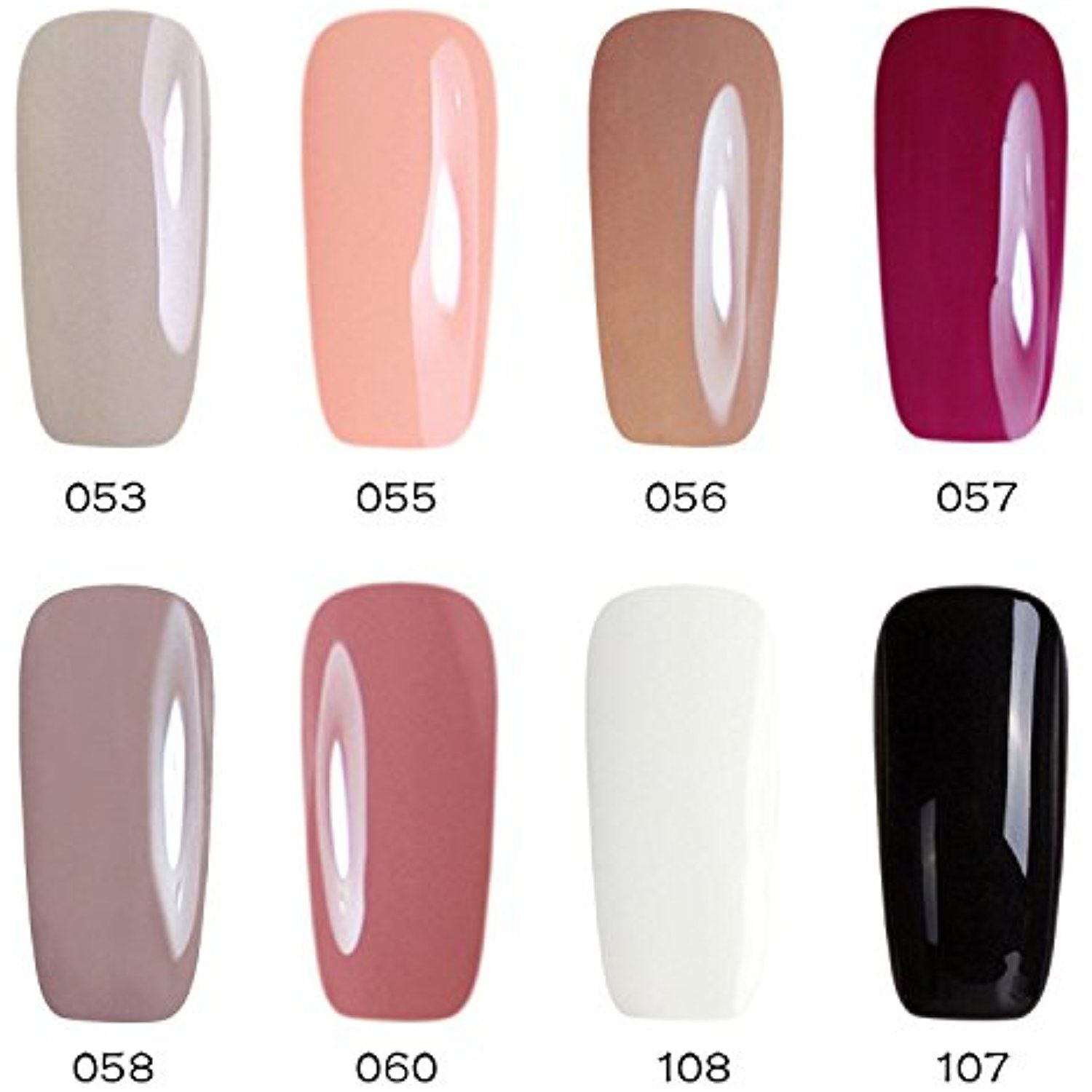 Gellen Soak Off Uv Led Gel Nail Polish 8 Colors Set Nail Art Home Salon Beauty Gift Starte Makeup Brush Set Best Best Foundation Makeup Makeup Kit Essentials