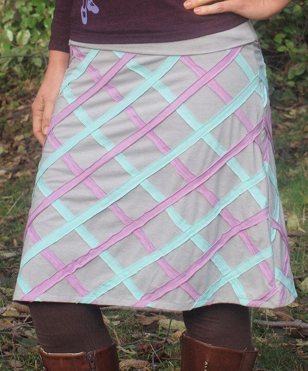 Look at this Spicy Green Mango Gray Diamonds Are Forever A-Line Skirt - Plus Too on #zulily today!