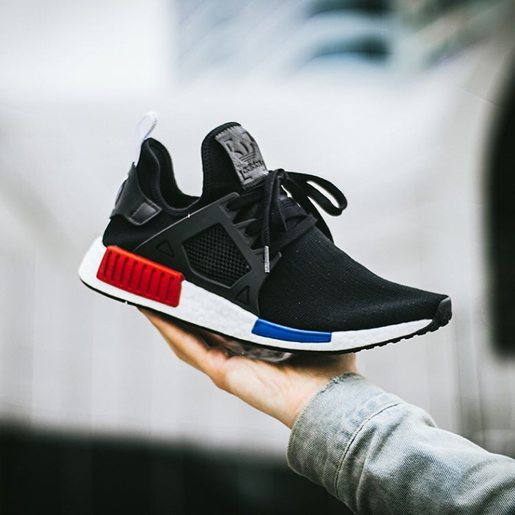 Jual Adidas NMD XR1 Contrast Stitch Black Red Bred Original