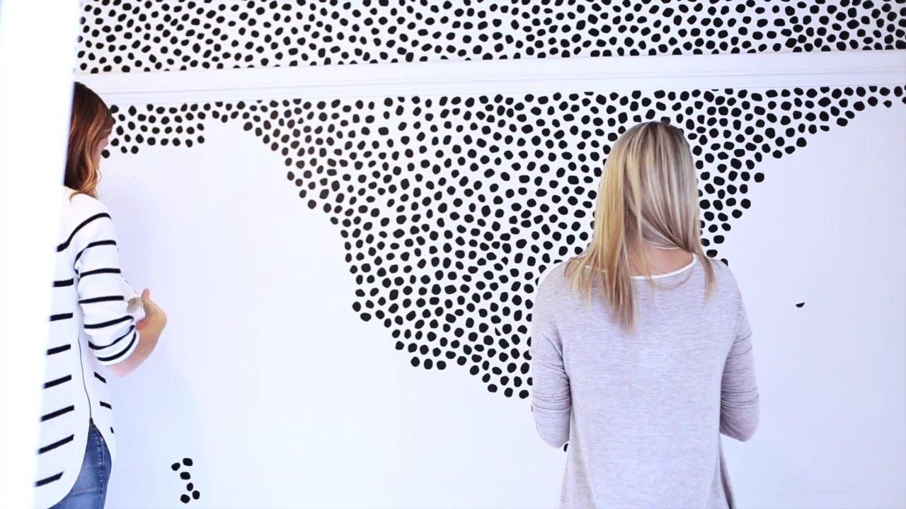 How To Peel Stick Irregular Dots Wall Patterns Dots Wallpaper Irregular