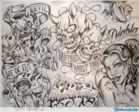 Boog Tattoo Flash Tattoomagz Com Tattoo Designs Ink Works Boog Boog Tattoo Chicano Art Tattoos Chicano Tattoos