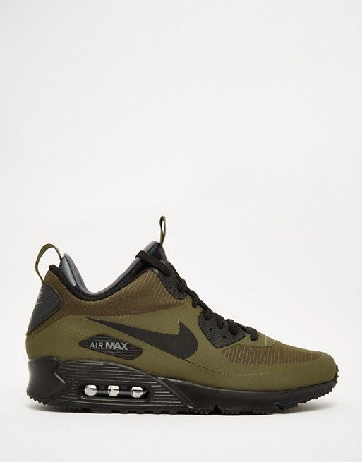 1d01c4c71a1928 Nike Air Max 90 Winter Mid Trainer In Green 806808-300