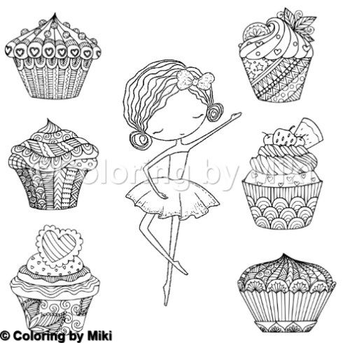 sweet ballerina coloring page 365 with images
