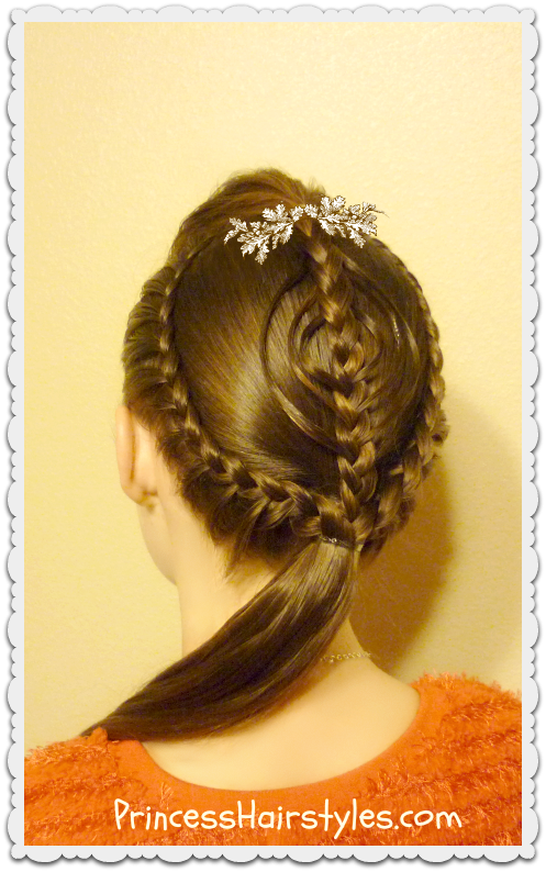 braided ornament hairstyle christmas