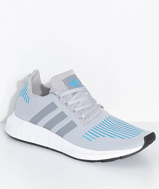 f9889308b adidas Swift Run Mystery Energy White & Blue Shoes in 2019 | Shoes ...