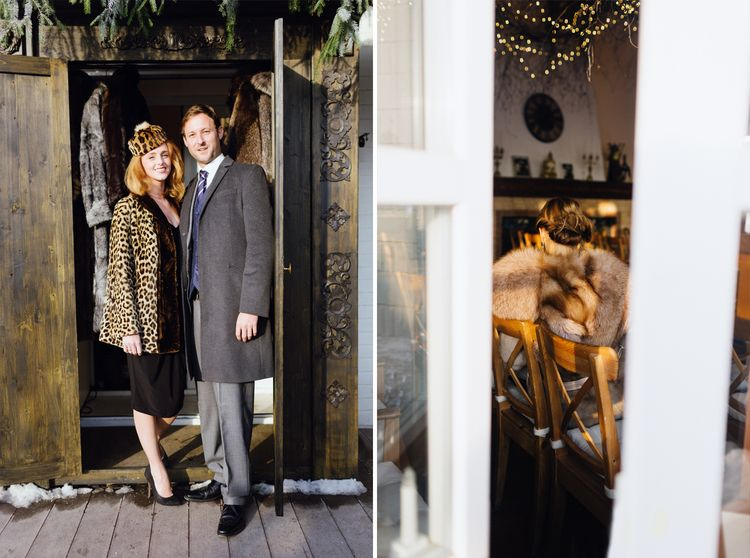 Wedding guest at a Magical Narnia-themed wedding | Fab mood #winterwedding #wintertale