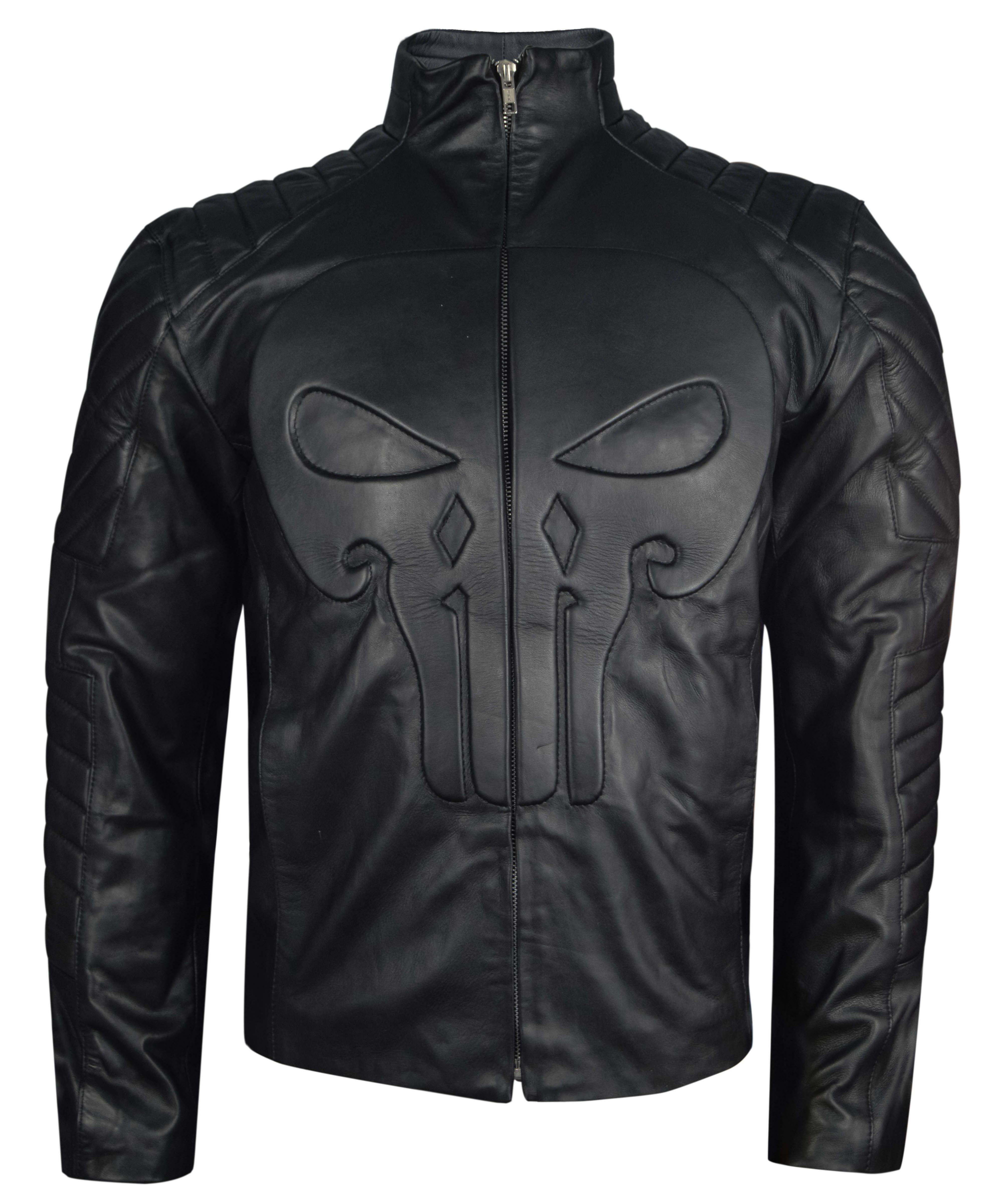 Punisher Frank Castle Thomas Jane Black Leather Skull Jacket All Sizes Ebay Leather Jacket Brown Leather Jacket Men Leather Jacket Men [ 4800 x 4000 Pixel ]