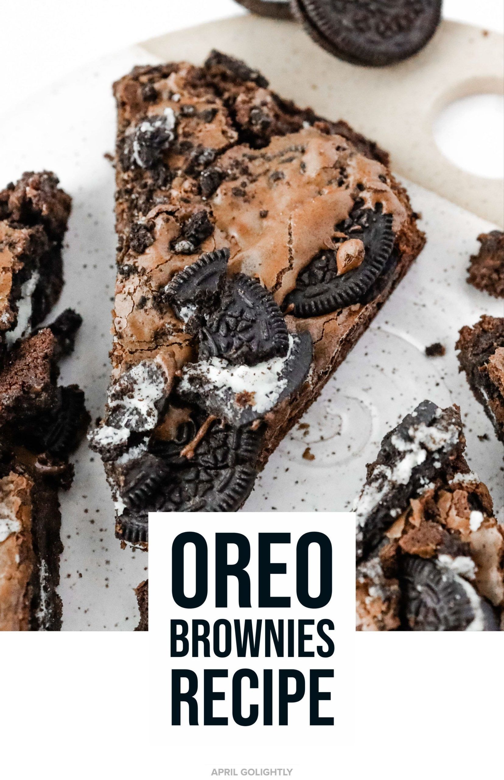 Reichhaltige Schokolade OREO Brownies - Golightly Food Reichhaltige Schokolade OREO Brownies - Goli
