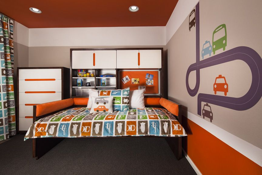 Kids Bedroom Model ryland homes 'collage' model at candelas. this boys room features