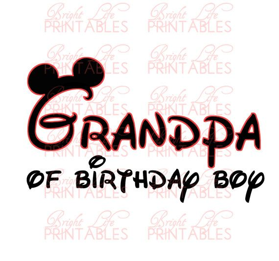 Disney+Iron+On+Transfer++Grandpa+Of+by+BrightLifePrintables,+$4.50
