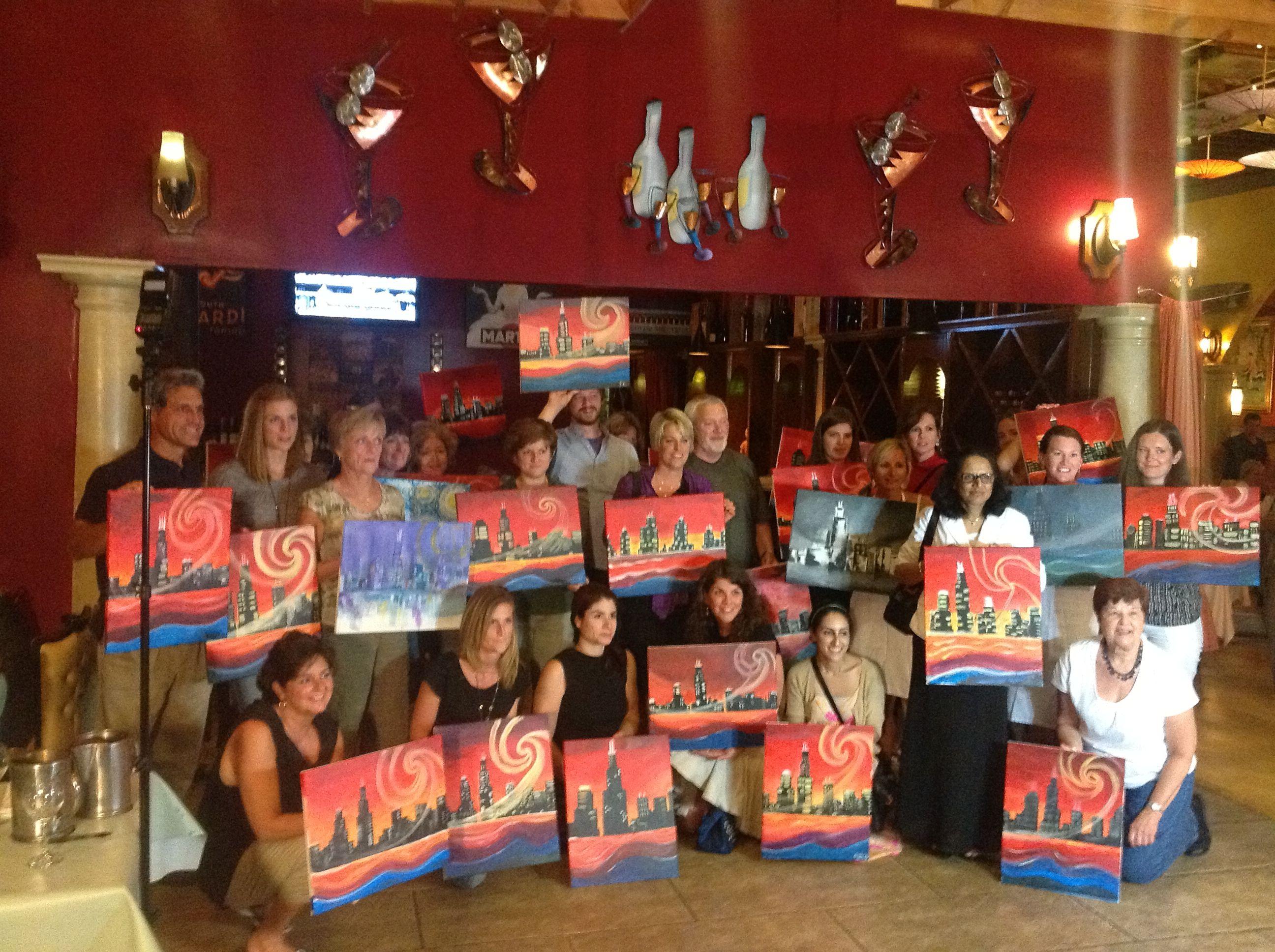 Thai Tuesday painting party!!!  Hosted by Bottle & Bottega, La Grange