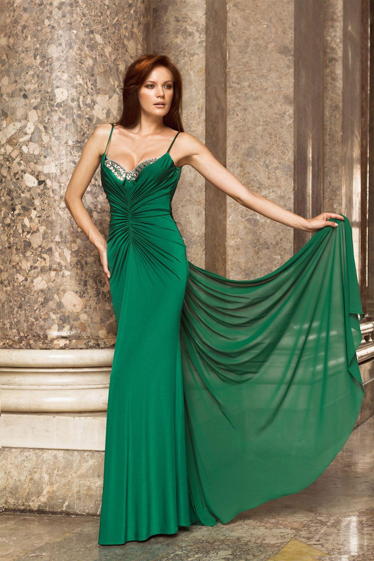 abito  dress  abiti  cerimonia  ceremony  sera  cocktaildress  partydress   damigella  redcarpetdress  bridesmaid  bridesmaiddres  verde  green a75b111cf6b