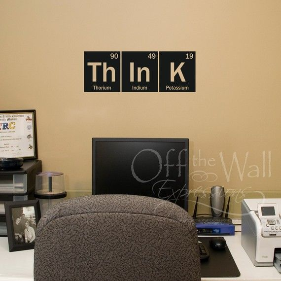 Think Wall Decal - Periodic Table Decal - elements vinyl decal ...