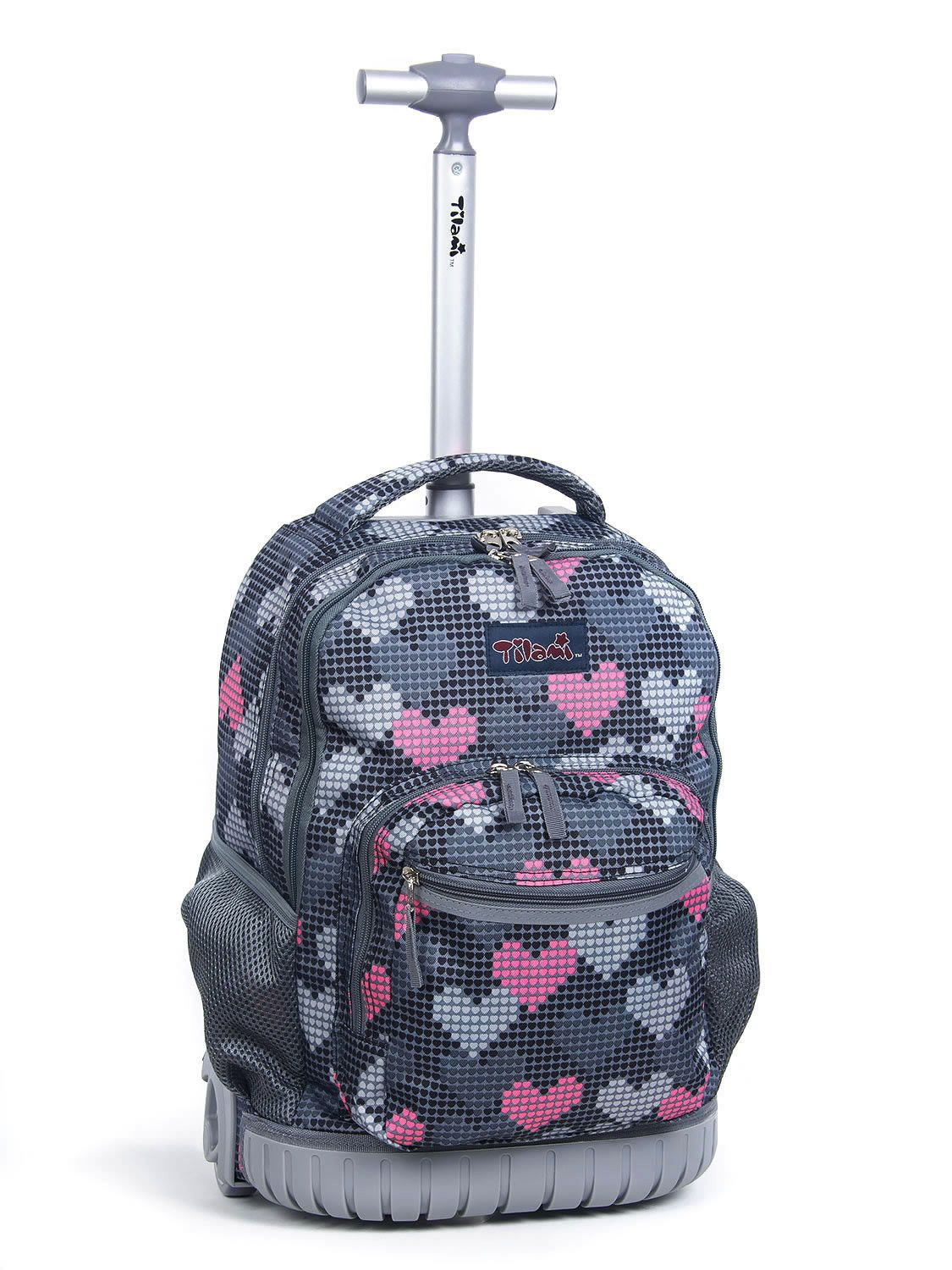 daa0d0d01bc9 Tilami® New Antifouling Design 18 Inch Human Engineering Design Laptop  Noiseless Wheeled Rolling Backpack - Pink Pilot Luggage for Girls - Falling  Love