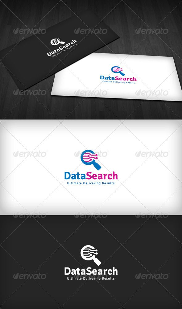 Data Search Logo  #GraphicRiver         Data Search Logo is a designed for Any types of companies. It is made by simple shapes Although looks very professional. The final file includes 3 variations of the Logo.  Featured:   Unique Slogan  AI CS3 Document  EPS CS Document  CMYK – 100 % Vector (Re-sizable)  3 Variations (Color, B/W & Inverts)    File Created with Illustrator CS3    The free fonts used in the design are: Signika  Which can be downloaded here -  .google…