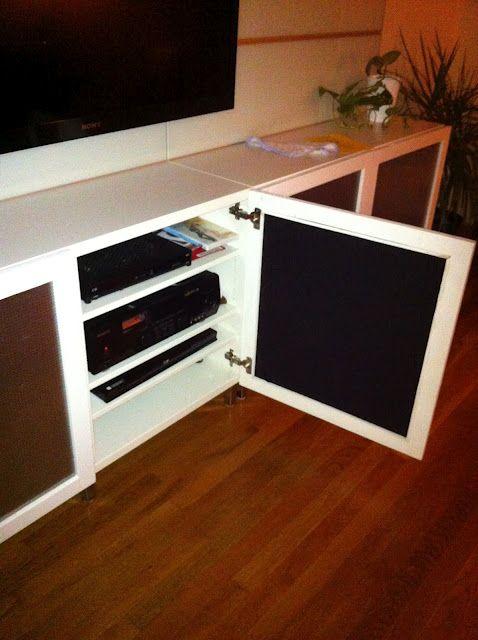 IKEA Hackers Cool speaker friendly Besta doors hack & Cool speaker friendly Besta doors hack | Ikea hackers Speakers and ...