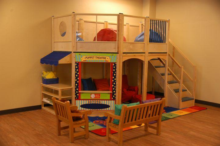 Classroom Loft Ideas : I wish could do this for a book corner preschool