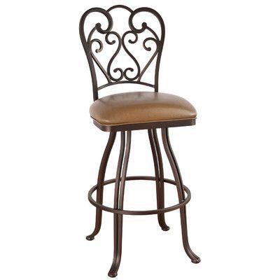 "Callee Valencia 26"" Swivel Bar Stool Upholstery: Element Macchiato, Frame Finish: Sun Bronze"