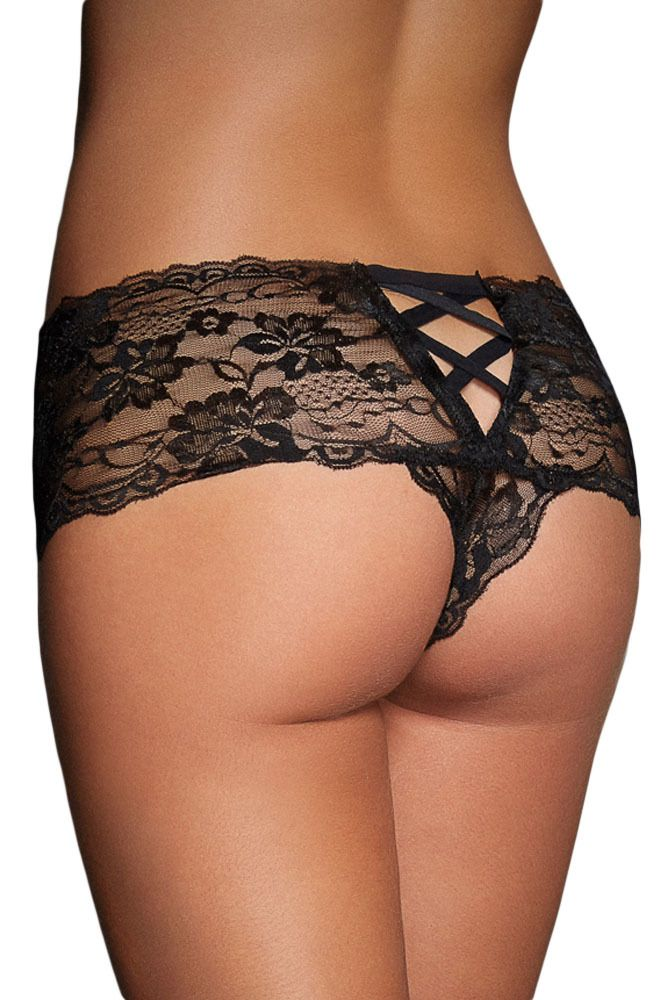 be38188ab3 cali chic sexy boy short lace black naughty knicker panties