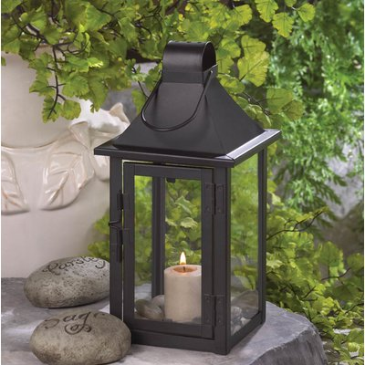 Zingz & Thingz Iron and Glass Lantern Size: Small