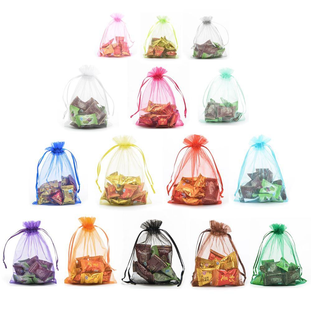 Halulu Organza Jewelry Pouch Bags Display Drawstring Wedding Party ...