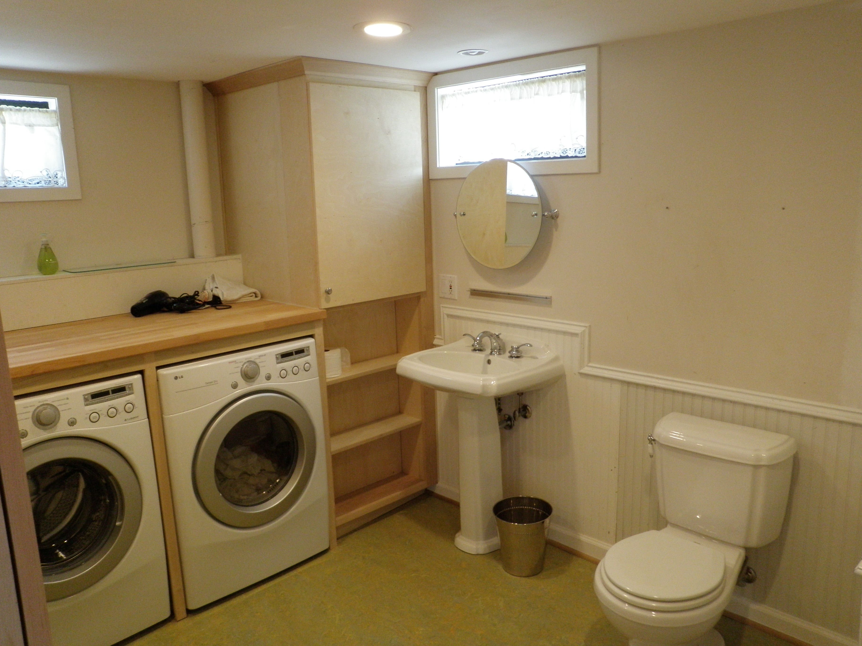 In brief from the jobsite luxpdx construction and for Basement bathroom laundry room ideas