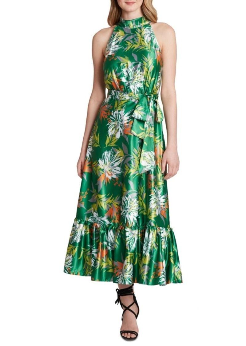 Asl Tropical Print A Line Maxi Dress 36 Off In 2021 Tropical Print Dress Long Sleeve Chiffon Dress Printed Bridesmaid Dresses [ 1126 x 800 Pixel ]