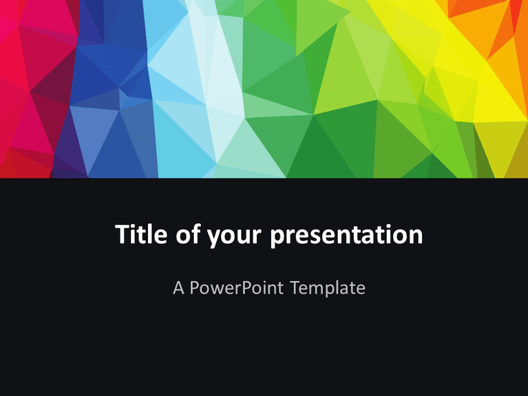 free modern polygons powerpoint template | try | pinterest | template, Powerpoint templates
