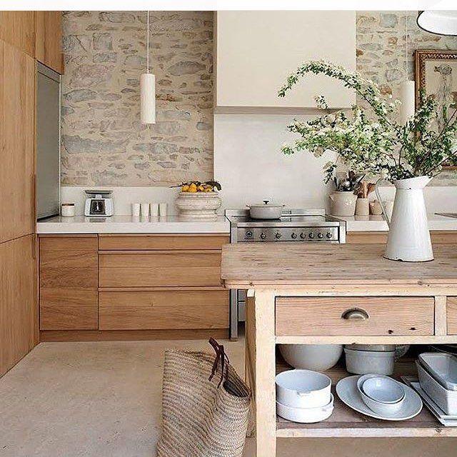 Construindo Minha Casa Clean — Cozinha de madeira ...