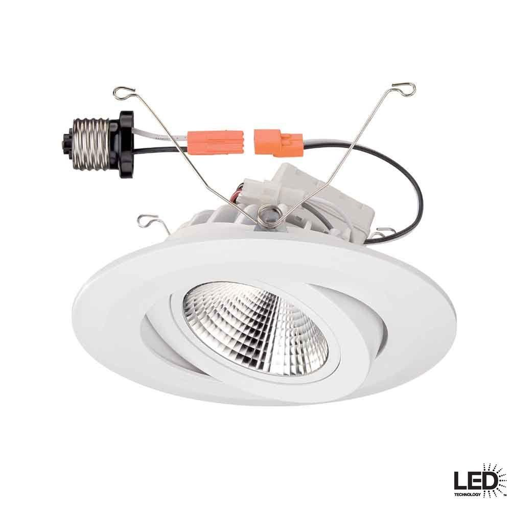 White Gimbal Recessed Led Trim Cer6742wh At The Home Depot