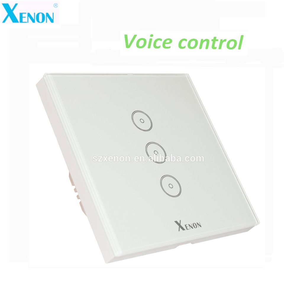 Xenon WiFi Remote Control 3 Gang EU Home Automation Smart Home Touch ...