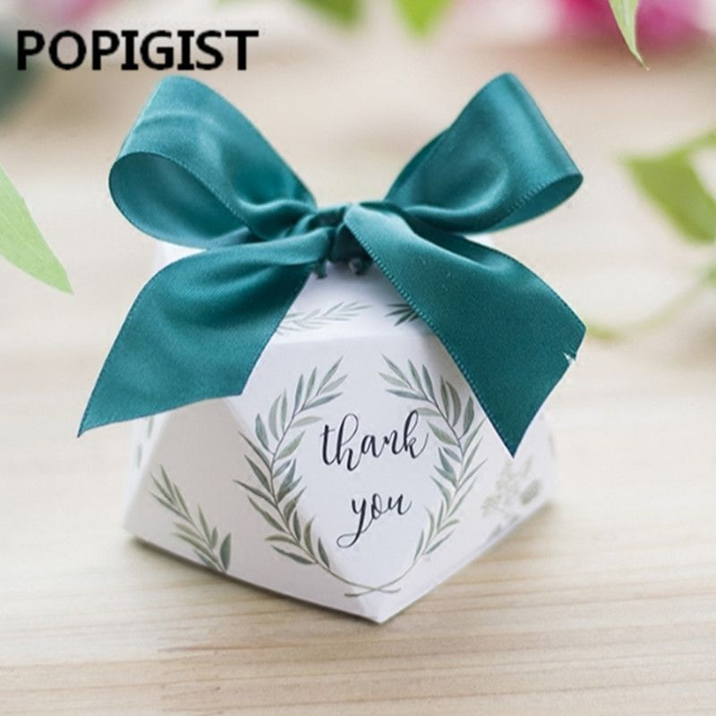 Cheap Gift Bags Wrapping Supplies Buy Directly From China Suppliers New Diamond Shape Green Leave Wedding Gift Favors Romantic Wedding Gifts Thank You Gifts