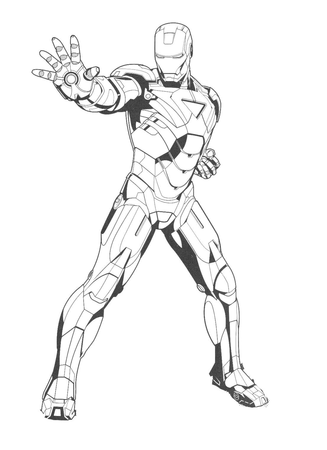 Iron Man Posing Coloring Pages Printables Coloring Pages For