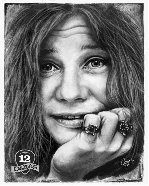 Janis Joplin 12caras Janis Joplin Joplin Musician Portraits
