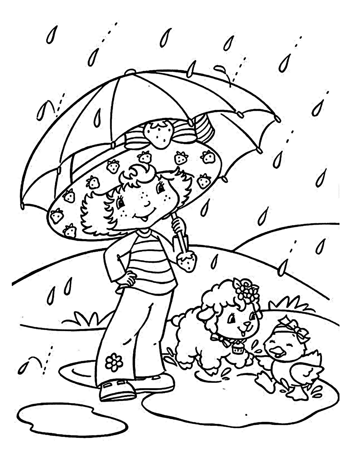 25 Wonderful Picture Of Rainy Day Coloring Pages Davemelillo Com Strawberry Shortcake Coloring Pages Coloring Books Cartoon Coloring Pages