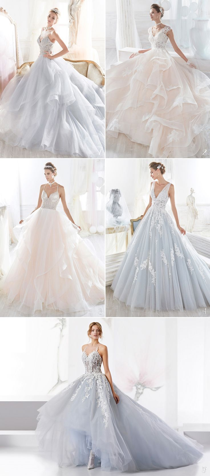 Thereus absolutely nothing like a fluffy ball gown to make a bride