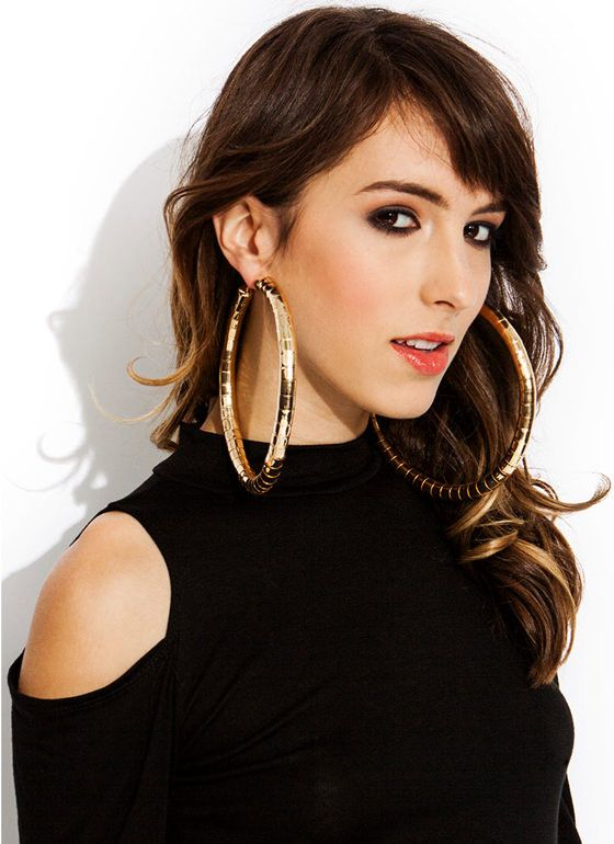 d5b10e7b33cf6 gold oversized hoops | New Styles / New Accessories / Oversized ...