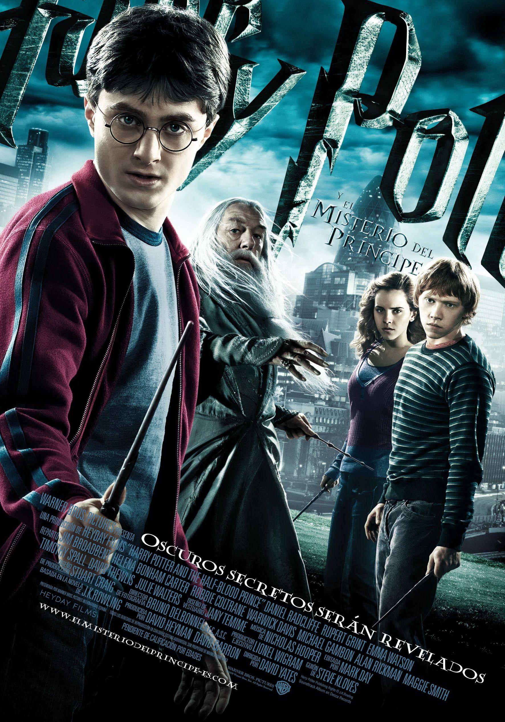 Harry Potter Y El Misterio Del Príncipe Películas De Harry Potter Afiche De Harry Potter Serie Harry Potter