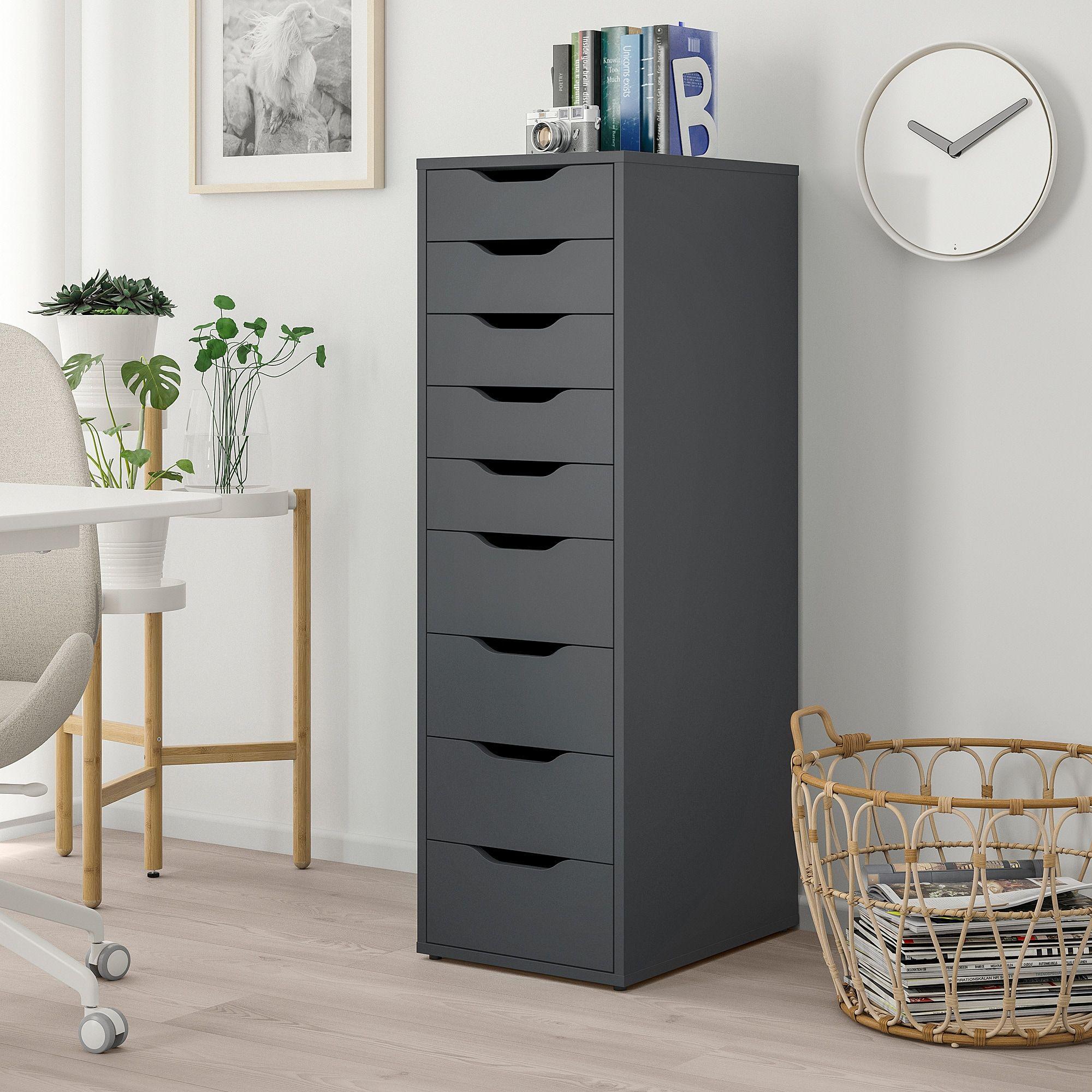 IKEA ALEX chest of drawers • Grey • 5