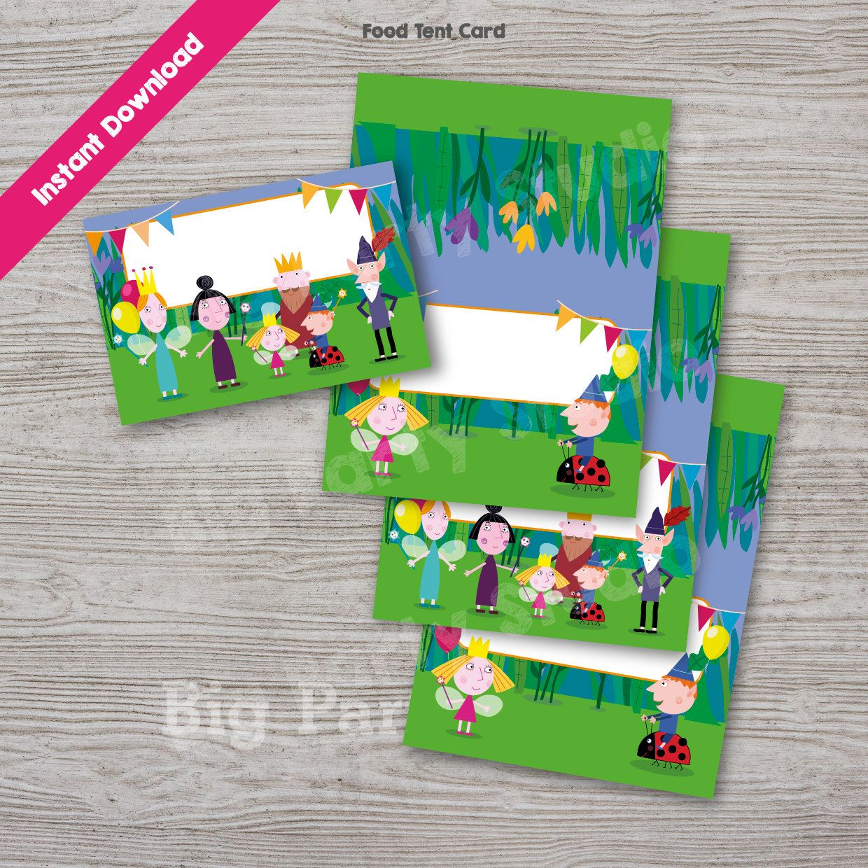 Ben and Holly Food Labels, Ben & Holly Food Tags, Food Tent Card ...