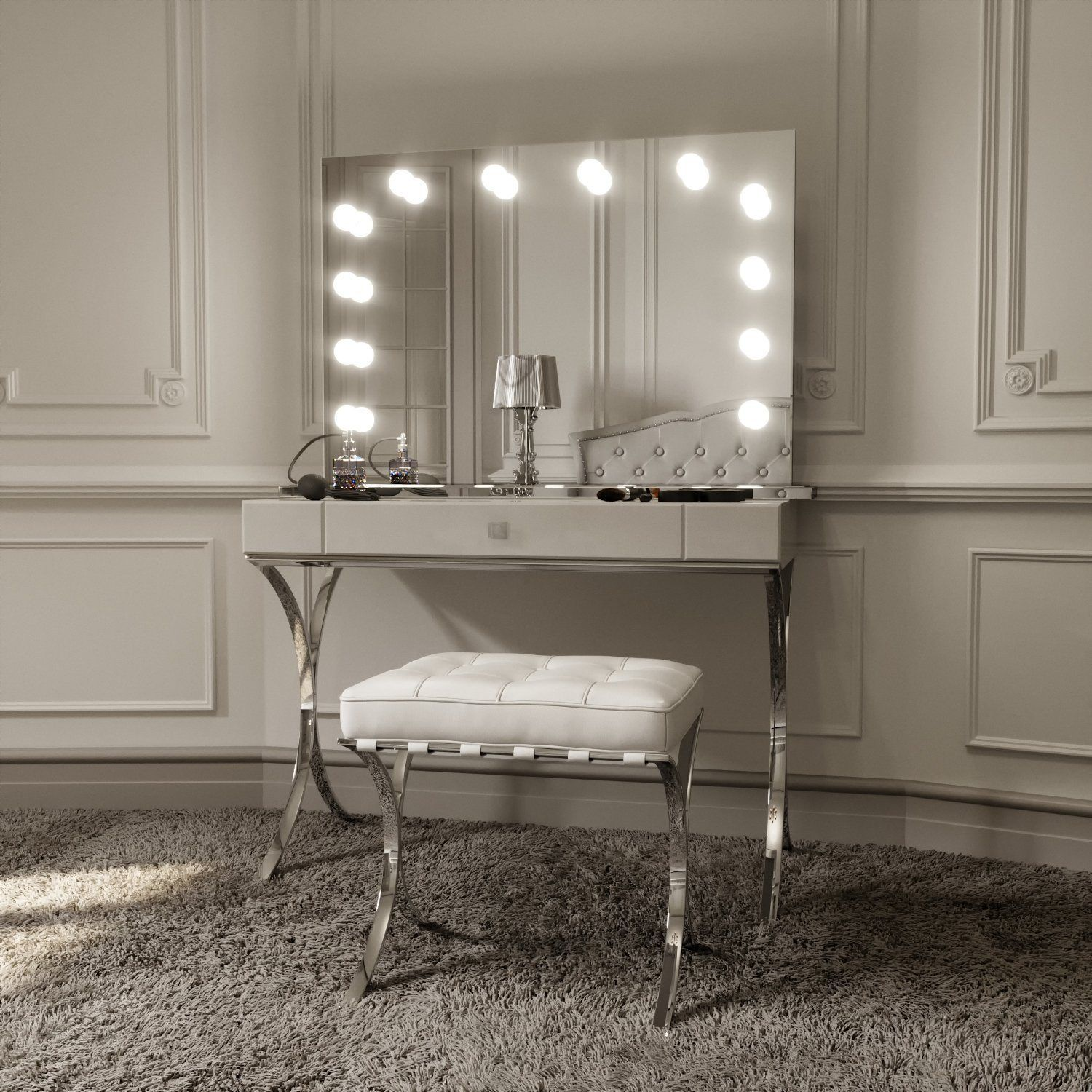 Scarlett Large Hollywood Mirror Hollywood mirror with